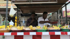 India Tamil Nadu Madurai temple vendors with offerings 10 Stock Footage