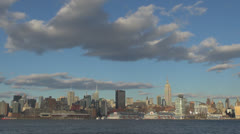 Beautiful skyline of Manhattan with Empire State Building by day, New York  Stock Footage