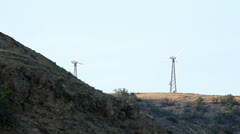 Wind farm in the mountains.  Stock Footage