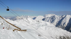 solden alpine cablecar - stock footage