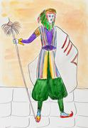 Syrian man in ceremonial costume Stock Illustration
