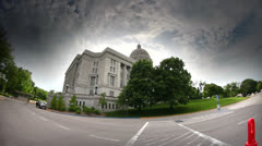 HDR of Missouri Capitol Building from back and side Stock Footage