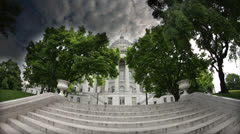 HDR Time lapse of back of Missouri Capitol Building Stock Footage