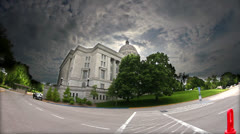 HDR Back side view of Missouri Capitol Building Stock Footage