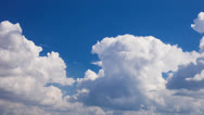 Stock Video Footage of Sky Time lapse Cumulus Before Storm