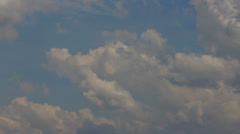 Beautiful Time lape of sky with white clouds Stock Footage