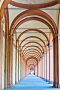 San Luca arcade in Bologna, Italy Stock Photos