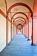 San Luca arcade in Bologna, Italy - stock photo