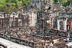 ta prohm in angkor, cambodia - stock photo