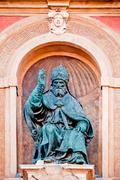 Pope Gregory XIII statue. Bologna, Italy Stock Photos