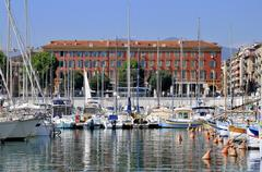 Port of Nice in France Stock Photos
