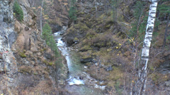 Russian nature, Arshan, Waterfalls and water Stock Footage