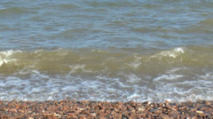 The water in Lake Baikal - stock footage