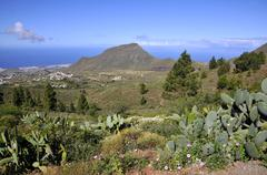 Mountainous landscape of Tenerife in the Canary Islands - stock photo