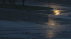 Stock Footage - Rain at night, street light, road - audio - shot flat 1080p Stock Footage