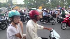 CRAZY SCOOTER TRAFFIC IN VIETNAM - HO CHI MINH CITY - stock footage