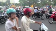 Stock Video Footage of CRAZY SCOOTER TRAFFIC IN VIETNAM - HO CHI MINH CITY