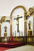 Church altar Stock Photos