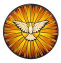 Stock Photo of holy spirit stained glass