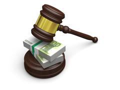 Money in law Stock Illustration