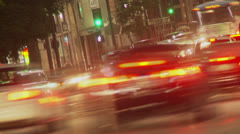 Hollywood Boulevard Traffic Time-lapse Stock Footage
