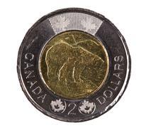 Ottawa, canada, avril 13, 2013,  a brand new shiny 2012 canadian two dollars Stock Photos