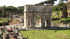 Arch of Constantine - Rome, Italy Stock Footage