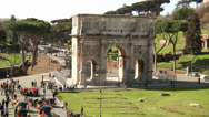 Stock Video Footage of Arch of Constantine - Rome, Italy