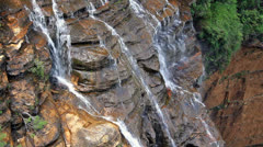 Beautiful waterfall in the Blue Mountains national park, Australia Stock Footage