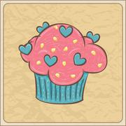 Cupcake card Stock Illustration