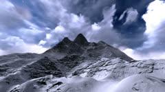 Frozen mountain Stock Footage