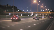 Stock Video Footage of Highway at night.