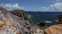 Stock Video Footage of timelapse rocky shore breaks 2 300%