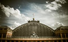 Stock Photo of facade of the atocha station in madrid