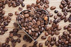 Stock Photo of coffee beans background