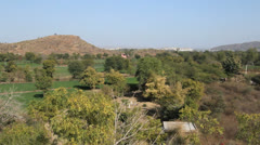 India Rajasthan landscape on the way to Udaipur  Stock Footage
