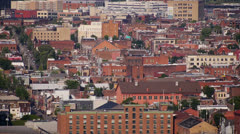 Pittsburgh South Side Buildings Stock Footage