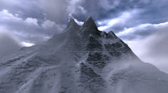 360 degree mountain view Stock Footage