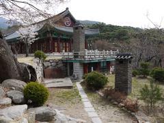 korean-styled  architecture - stock photo