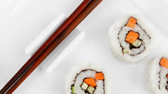 California Maki Sushi Roll Stock Footage
