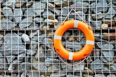 Buoy wall stone Stock Photos