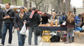 Flea Market at Puces de Vanves. Three shots. HD Footage
