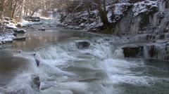 Frozen Creek Stock Footage