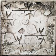 birds on a branch,molding art - stock photo