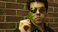 Drug dealer marijuana drugs Stock Footage