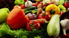 Vegetables. Close-up Stock Footage