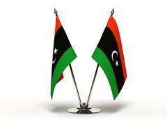 miniature flag of libya - stock illustration