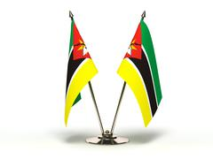 Miniature flag of mozambique Stock Illustration