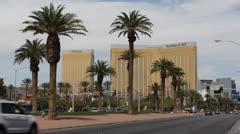 Mandalay Bay Hotel Casino, USA, Fabulous Las Vegas Nevada Strip, Palm Tree, day Stock Footage