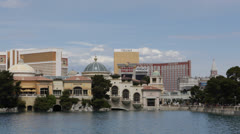 Venetian, Bellagio Fountain, Las Vegas Strip, Boulevard, Mirage, Treasure Island Stock Footage